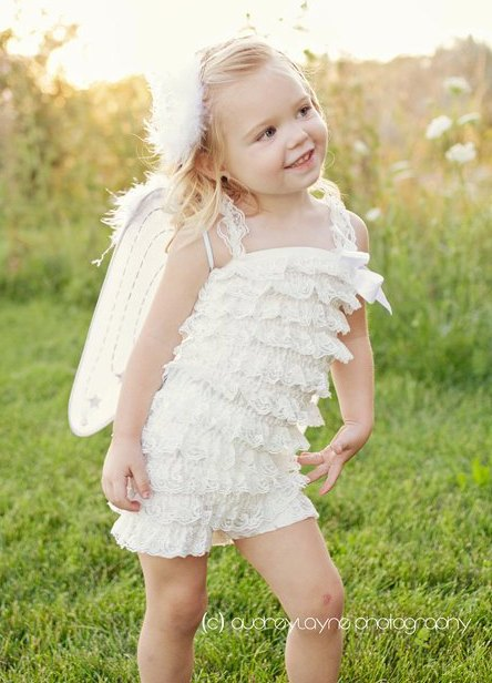 Precious Angel Costume Set-white, angel, halloween, halloween costume, wings