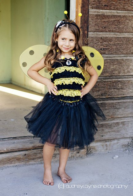 Bumble Bee Pettiromper Costume Set
