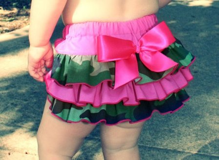 Pink Camo Ruffle Bloomer