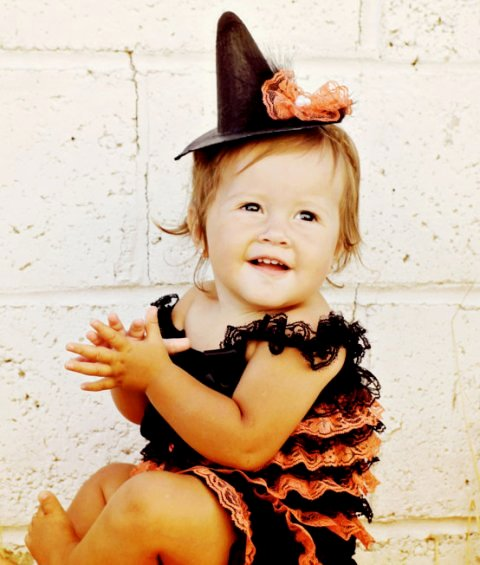 Halloween Witch Pettiromper-orange, black, petti romper