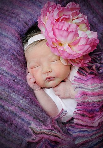 Pink Strawberry & Cream Peony Rhinestone Flower Headband-pink peony, headband, newborn, infant, baby, girl, spring, summer