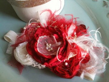 The Scarlette Silk Bow Vintage Inspired Flower Headband