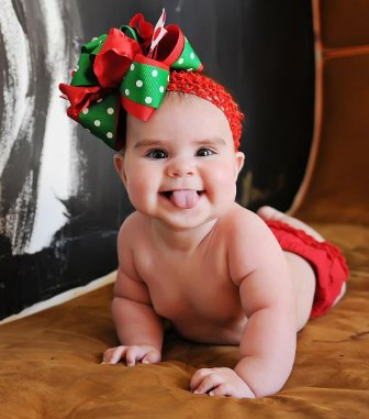 Christmas Rhinestone Over the Top Hair Bow Headband