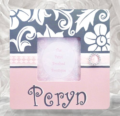 Hand Painted Girls Boutique Photo Frame