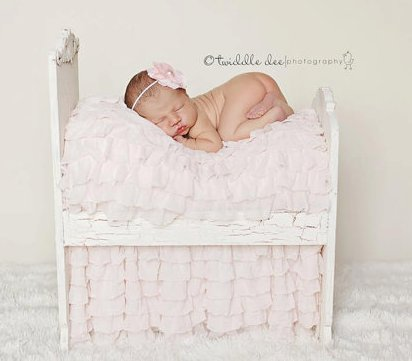 Soft Blush Couture Ruffle Blanket