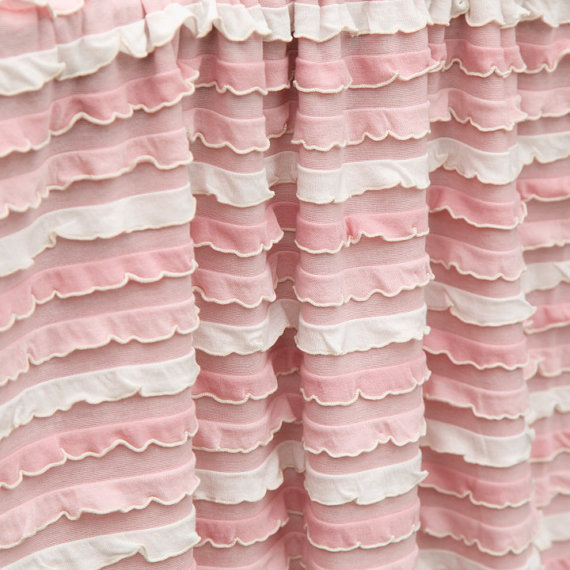 Soft Pink & White Couture Ruffle Blanket