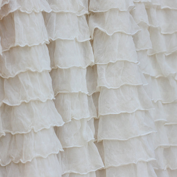 Soft Ivory Couture Ruffle Blanket