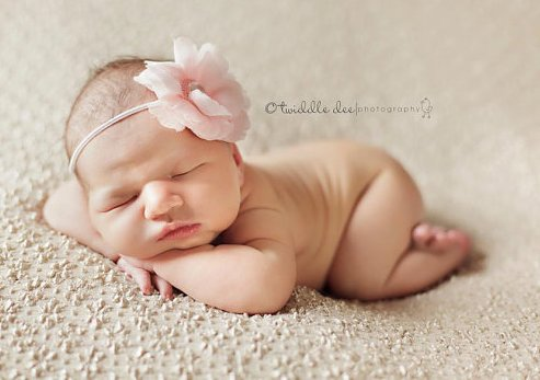 Pink Pearl Infant Flower Headband