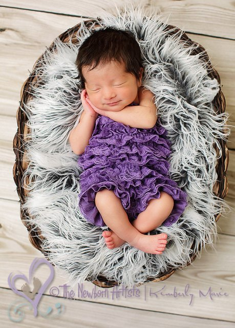Purple Lace Petti Romper