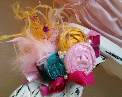 Sorbet Splash Rosette Flower Headband