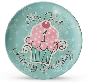 Personalized Cupcake Birthday Plate Cake Smash Dinner Plate