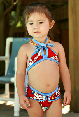 Lets Luau Itsy Bitsy Bikini Infant Swimsuit