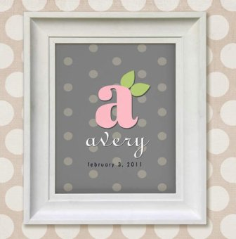 Nursery Wall Art for Baby Girl