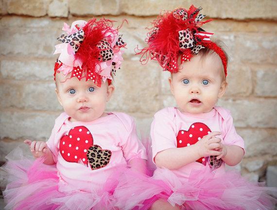 Pink & Red Leopard Heart Valentine Onesie-baby girl, boutique, hearts, valentines day, valentine's, love