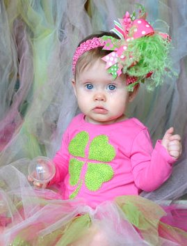 Lucky Clover Hot Pink & Green Infant Shirt