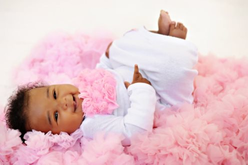 Shabby Pink Vintage Rosette Newborn Infant Gown-newborn, infant, baby, girl, pink, white, take me home, take home, sac, sack, layette, gown, hospital
