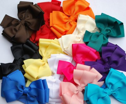 All Year Brights Boutique Hair Bow Set-solid, basic, hairbow, hair bow