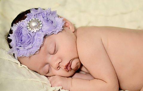 Lavender Chiffon Flower Headband-lavender, headband