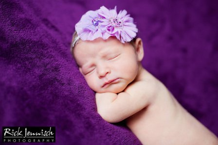 Beaded Lavender Flower Headband