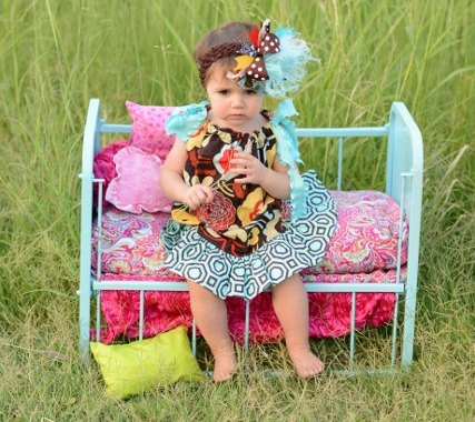 Vintage Floral Pillowcase Infant Dress