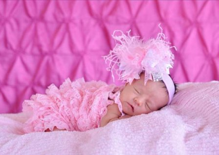 Medium Light Pink & White Damask with Metallic Silver Over the Top Hair Bow Headband-princess, pink, newborn, infant, hairbow, light pink