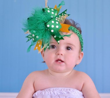 Green Bay Packers Over the Top Hair Bow Headband-colorado state university, KSU, green, gold, football, sports, team, hairbow, green and yellow