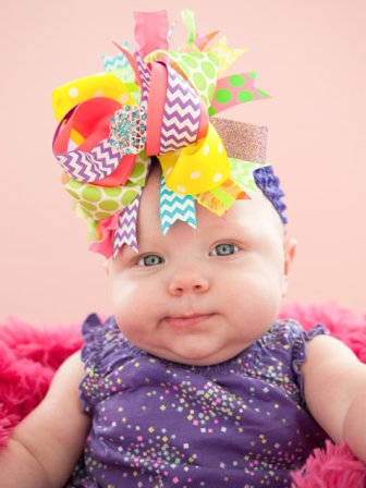 Party Girl Bling Over the Top Hair Bow Headband