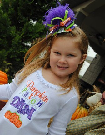 Pumpkin Diva Dress & Over the Top Hair Bow Set-halloween, outfit, dress, pumpkin patch