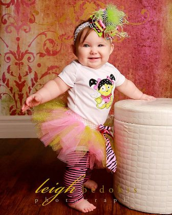 Sassy Little Zombie Costume Tutu Outfit Set-halloween, zombie, baby, girl, boutique, outfit, costume, pink, black, lime