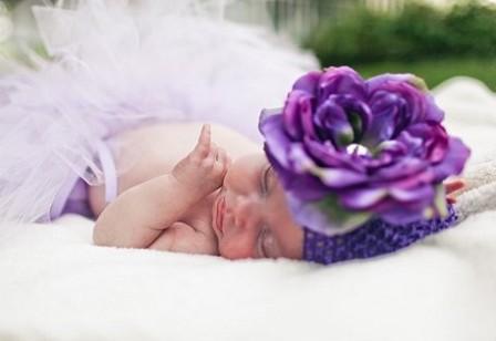 Purple Peony Flower Beanie Hat-