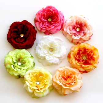 You Choose - Large Peony Bling Flower Clip-