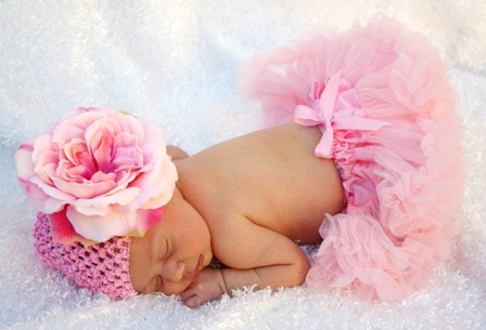 Light Pink Peony Beanie Hat-pink flower hat, infant, baby, newborn