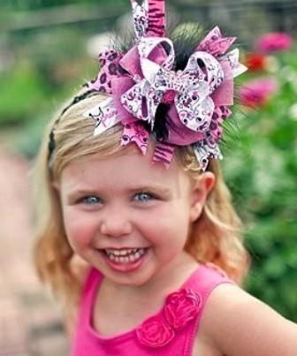 Zebra Punk Princess - Over-the-Top Hair Bow Headband