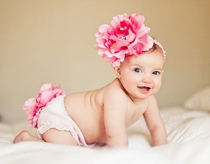 Pink Peony Diaper Cover & Headband Set