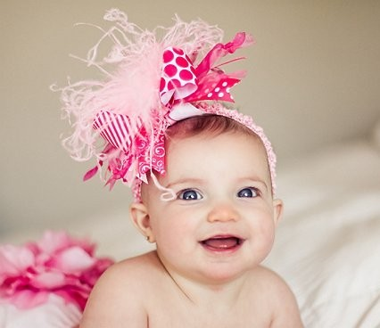 Crazy Hair Bows http://thegirlybaby.com/item_1558/Crazy-for-Pink--Over-the-Top-Hair-Bow-Headband.htm