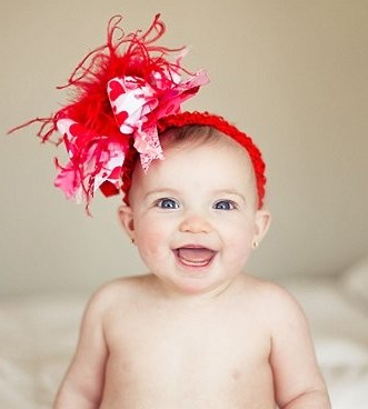 Red Hearts Valentine - Over-the-Top Hair Bow Headband