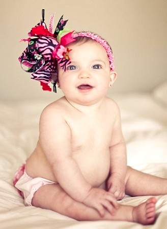 Valentine Skull Heart - Over-the-Top Hair Bow Headband