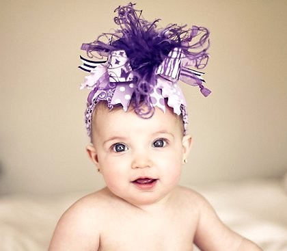 Shades of Purple Zebra - Over-the-Top Hair Bow Headband