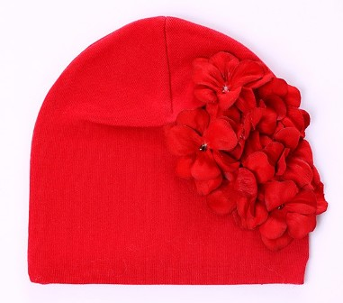 Red Geranium Flower Hat