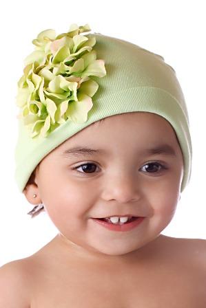 Green Garden Geranium Hat-green