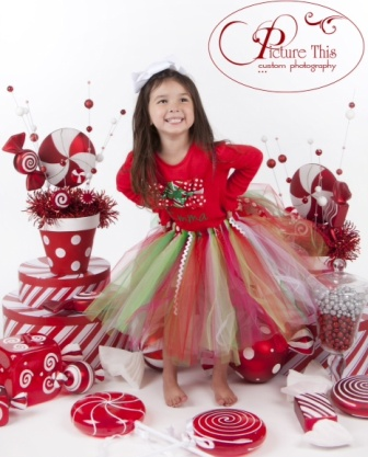 Peppermint Twist Holiday Tutu
