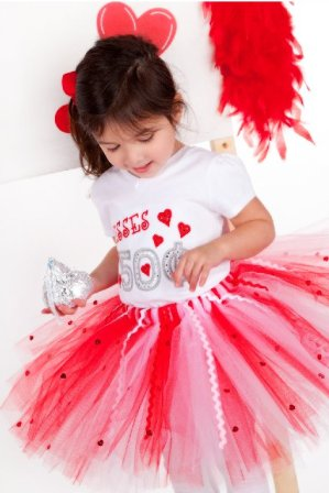 Sweet Kisses Valentines Tutu-red, white, love, xoxo, kisses, valentines day, valentine's day, tutu, girl boutique