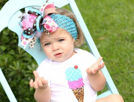 Super Sassy Birthday Fun - Over-the-Top Hair Bow Headband
