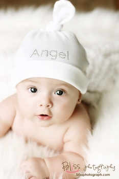 Angel Rhinestone Bling Baby Girl Hat-white, crystals, cotton, hat, newborn, infant, baby, girl