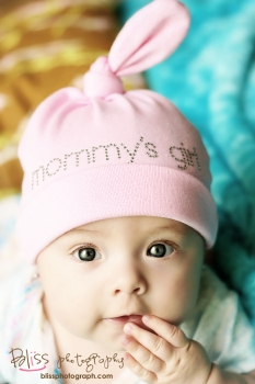 Mommys Girl Rhinestone Bling Hat-cotton, hat, knotted, infant, baby, girl, boutique, pink