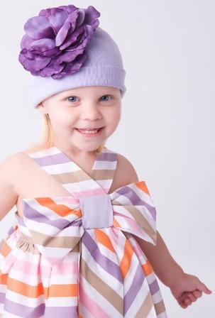 Lavender Rose Flower Hat-