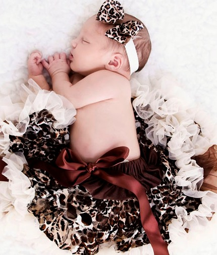 Newborn Leopard Print Headband