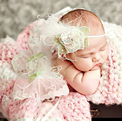 Little Angel Pure White Infant Feather Fairy Wings Photo Prop