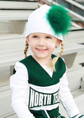Custom Sports Team Marabou Hat-football, baseball, basketball, sports, boutique, baby girl