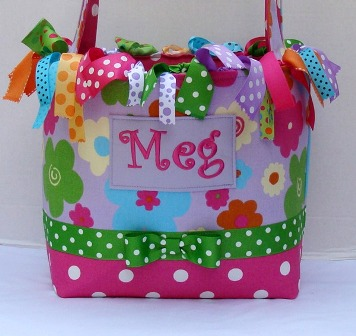 Bright Flowers Boutique Diaper Bag